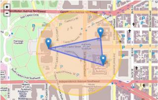 Emergency Alert polygonal data map